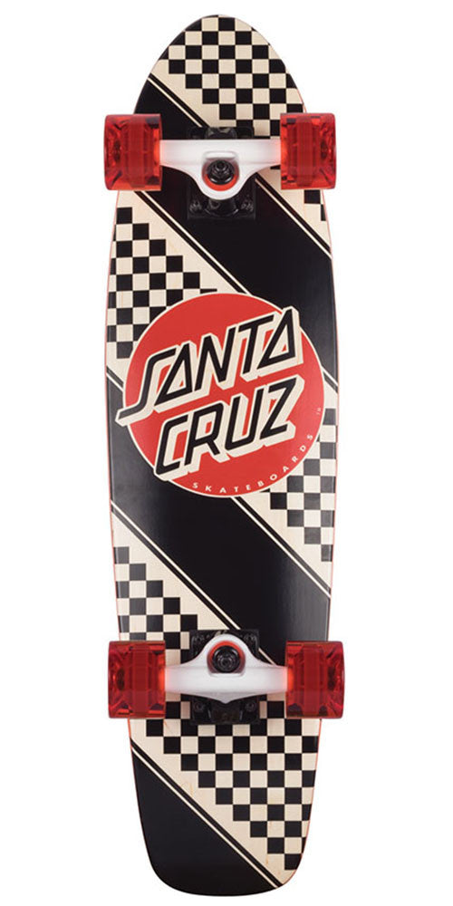 Santa Cruz Check Stripe Jammer Complete Skateboard - Multi - 7.4in x 29.1in