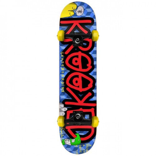 Krooked Drive A Toy Large Complete Skateboard - 8 x 31.75 - Blue/Red