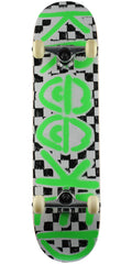 Krooked Checkers Complete Skateboard - Black/White/Green - 8.0in x 31.25in