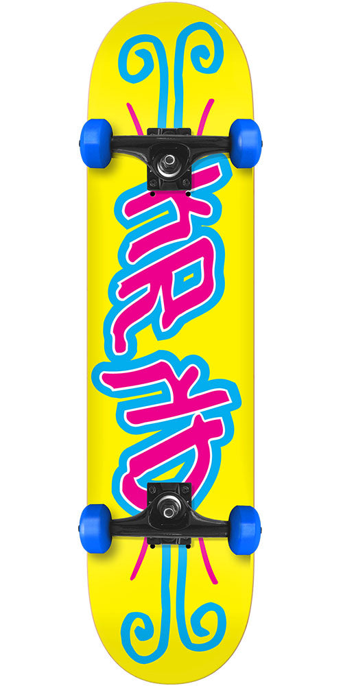 Krooked Krkd Mini Complete Skateboard - Yellow - 7.38in x in