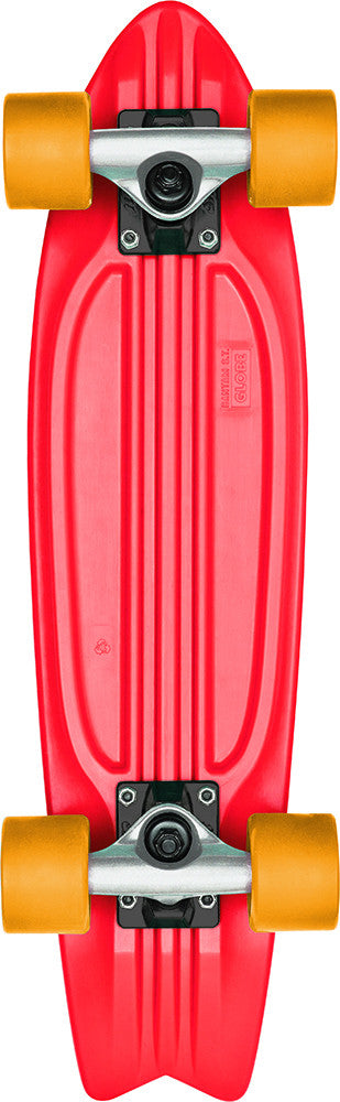Globe Bantam ST Complete Skateboard - 6 x 23 - Red/Grey/Yellow