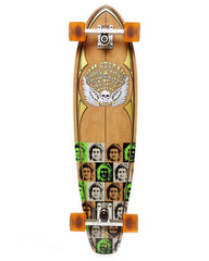 Globe Sultans of Surf Occy Complete Skateboard - 9 x 36 - Natural/Clear Amber