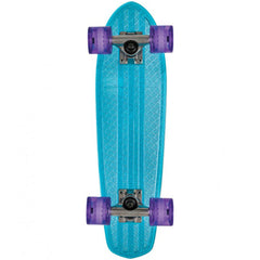 Globe Bantam Clears Complete Skateboard - 24.0in - Light Blue/Raw/Purple