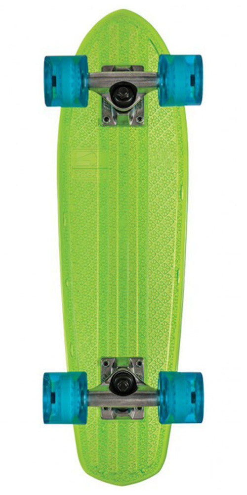 Globe Bantam Clears Complete Skateboard - 24.0in - Lime/Raw/Light Blue