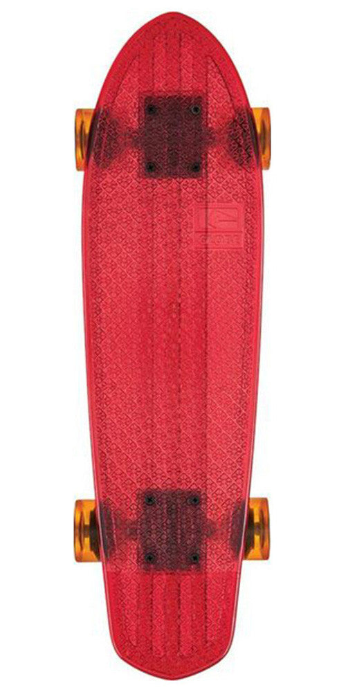Globe Bantam Clears Complete Skateboard - 24.0in - Red/Raw/Amber