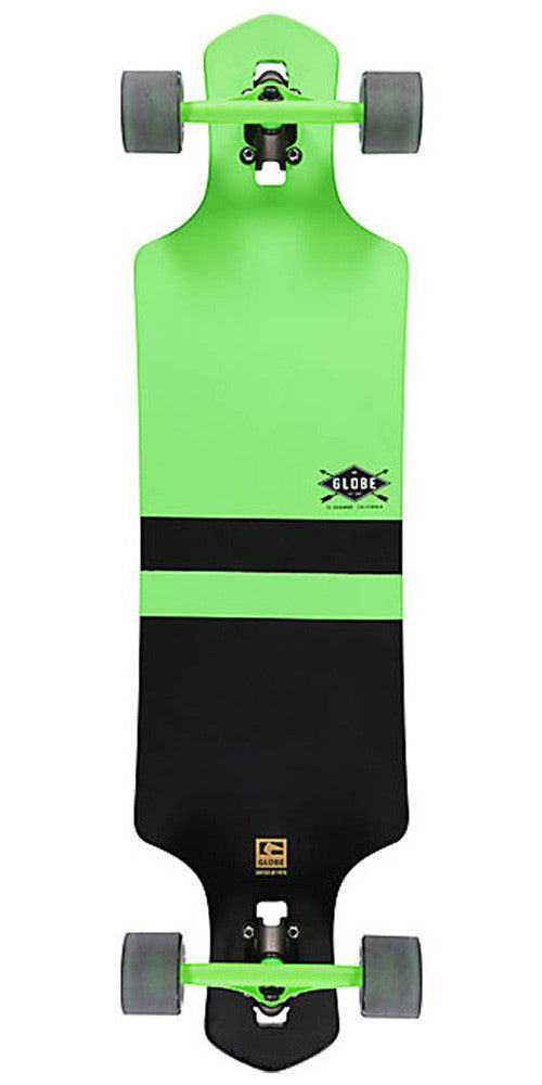 Globe Geminon Complete Skateboard - 38.5in - Fluoro Green/Black