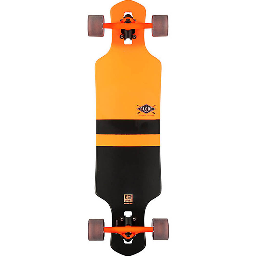 Globe Geminon Complete Skateboard - 35.0in - Fluoro Orange/Black