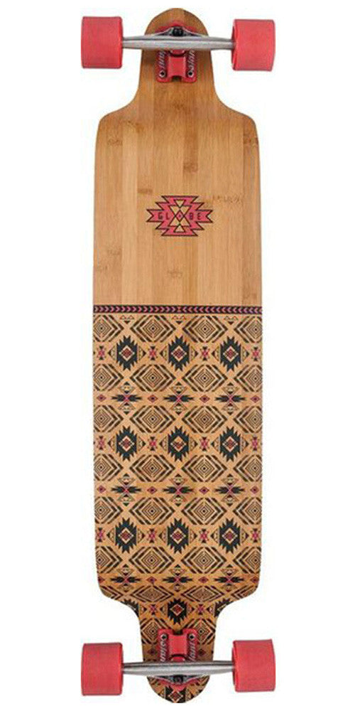 Globe Bannerstone Complete Skateboard - 41.0in - Red/Bamboo