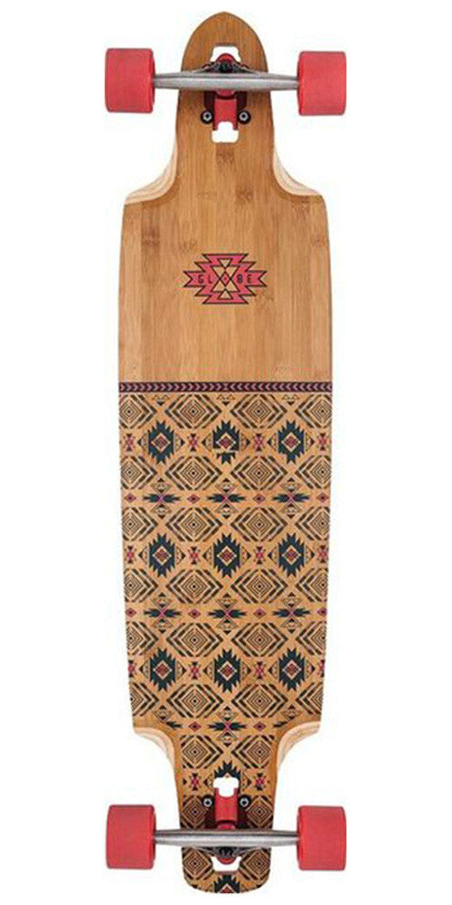 Globe Spearpoint Complete Skateboard - 40.0in - Red/Bamboo