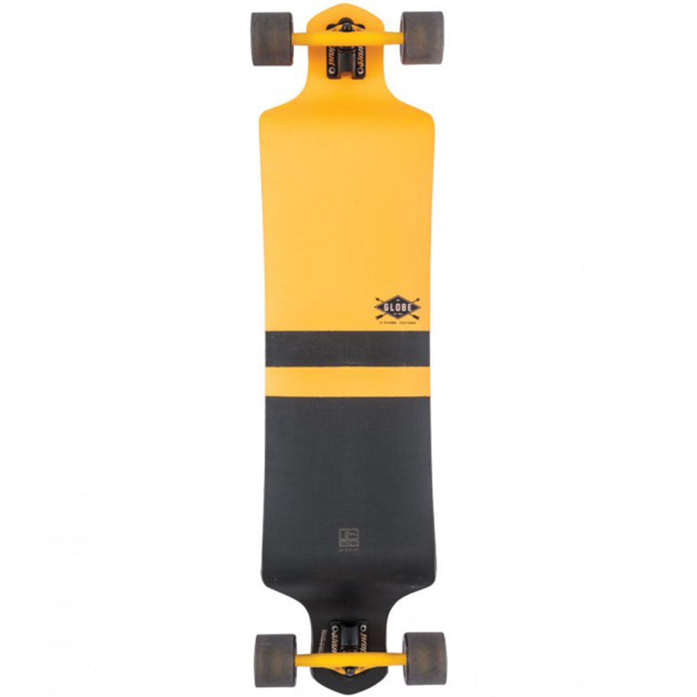 Globe Geminon Drop-Down Complete Skateboard - Fluoro Yellow/Black - 10.0in x 41.0in
