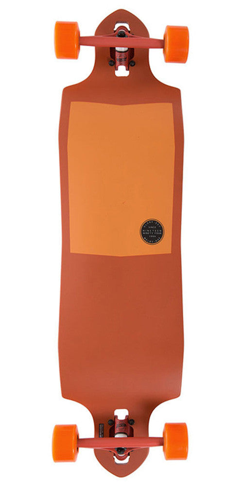 Globe Sledgehog Fibercarve Complete Skateboard - Tart Orange - 10.0in x 37.5in