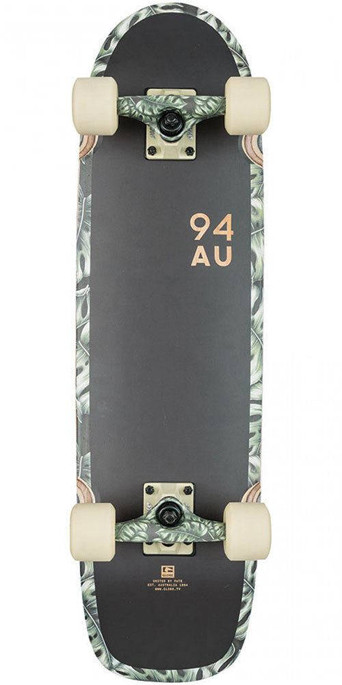 Globe Fat Bruiser Complete Skateboard - Black/Monstera - 8.125in x 30.0in