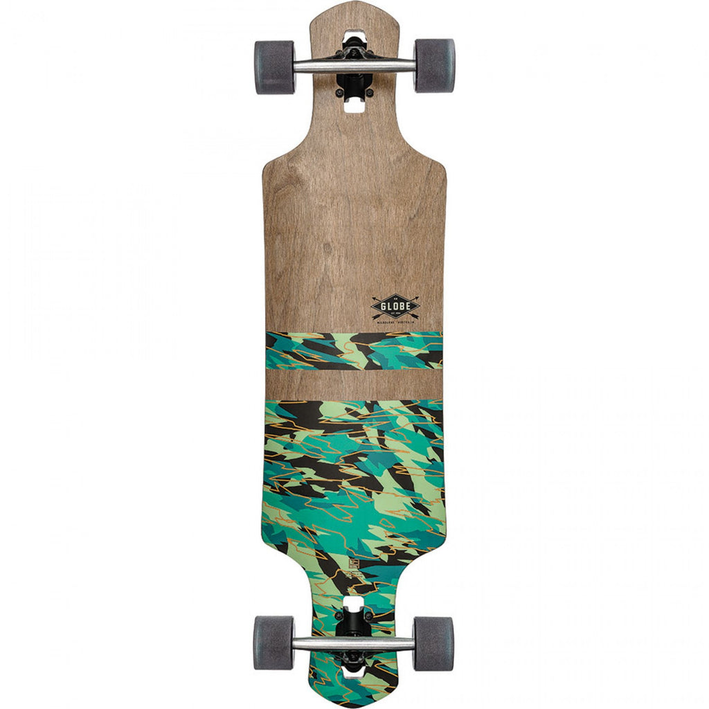 Globe Geminon Complete Skateboard - Dark Maple/Watershed - 38.0in