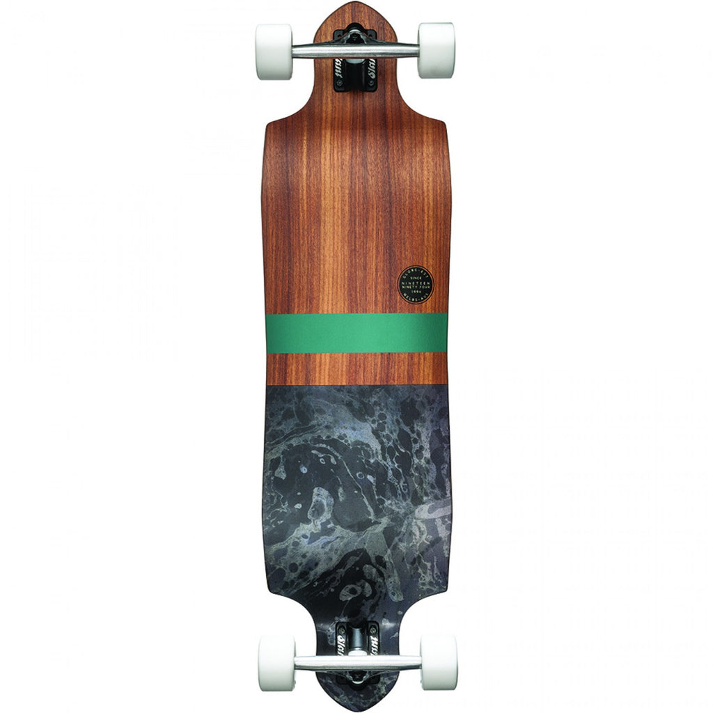 Globe Geminon Micro-Drop Complete Skateboard - Rosewood/Black - 37.5in