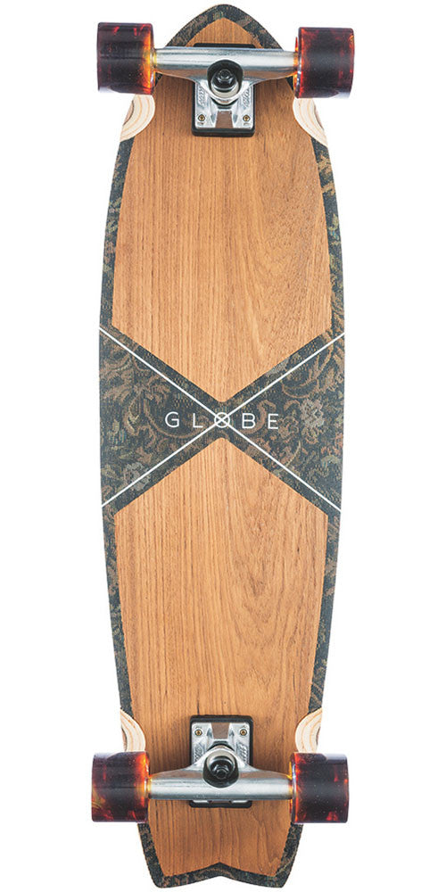 Globe Chromantic Cruiser Complete Skateboard - Teak/Floral Couch - 33.1in