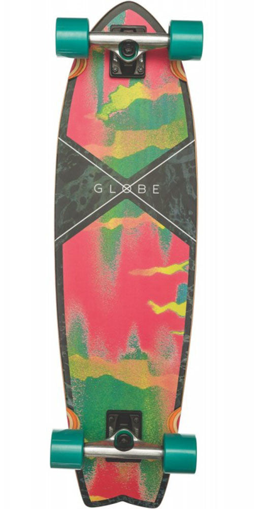 Globe Chromantic Cruiser Complete Skateboard - Melted melon - 9.75in x 33.0in