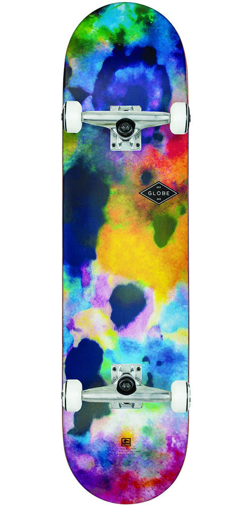 Globe Full On Complete Skateboard - Color Bomb - 7.75in x 31.5in