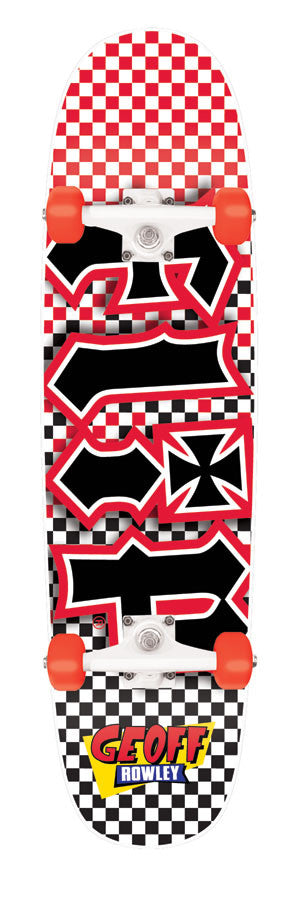 Flip Rowley Fast Times Cruzer Complete Skateboard - 8 x 32.35 - Black/White/Red