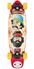 Flip Cheech and Chong Shred Sled Cruzer Complete Skateboard - 9.3 x 36 - Red/Yellow/Tan