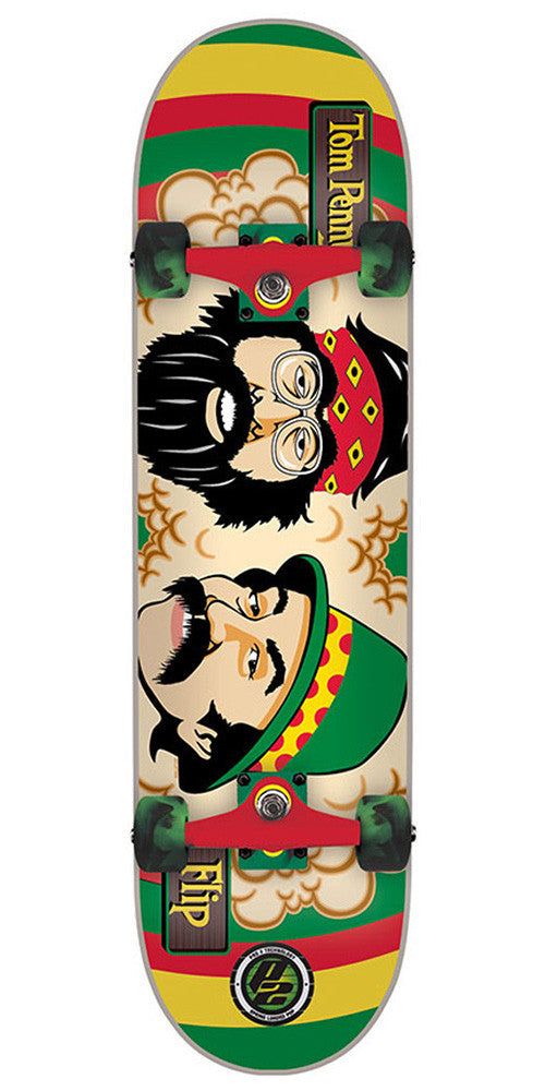 Flip Penny Cheech and Chong Complete Skateboard - 8 x 31.5 - Rasta
