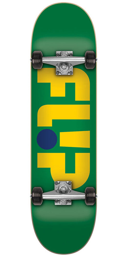 Flip Odyssey Logo Regular Sk8 Complete Skateboard - Green - 7.88in x 32.0in
