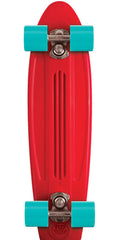 Flip Banana Board Cruzer Complete Skateboard - Red/Blue - 6.0in x 23.25in