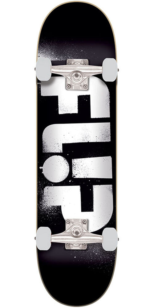 Flip Team Odyssey Stencil Regular Sk8 Complete Skateboard - Black - 8.0in x 31.5in