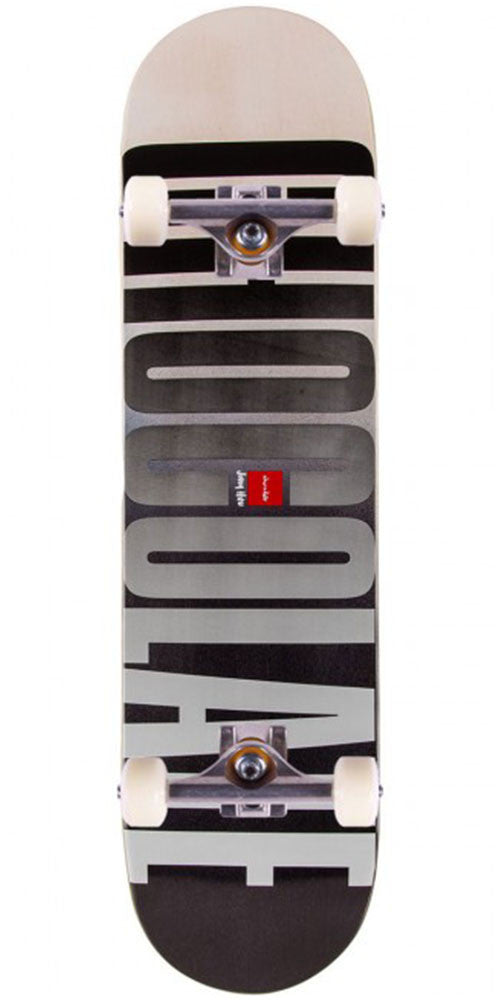Chocolate HSU League Fade Complete Skateboard - Grey/Black - 8.0in x 31.5in