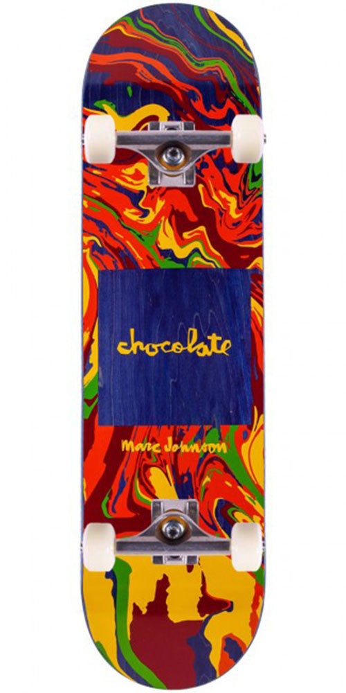 Chocolate Johnson Sumi Chunk Complete Skateboard - Multi - 8.125in x 31.3in