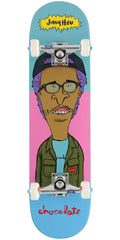 Chocolate HSU Jer & MJ Complete Skateboard - Blue/Pink - 7.75in x 31.125in