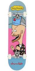 Chocolate Johnson Jer & MJ Complete Skateboard - Blue/Pink - 7.75in x 31.125in
