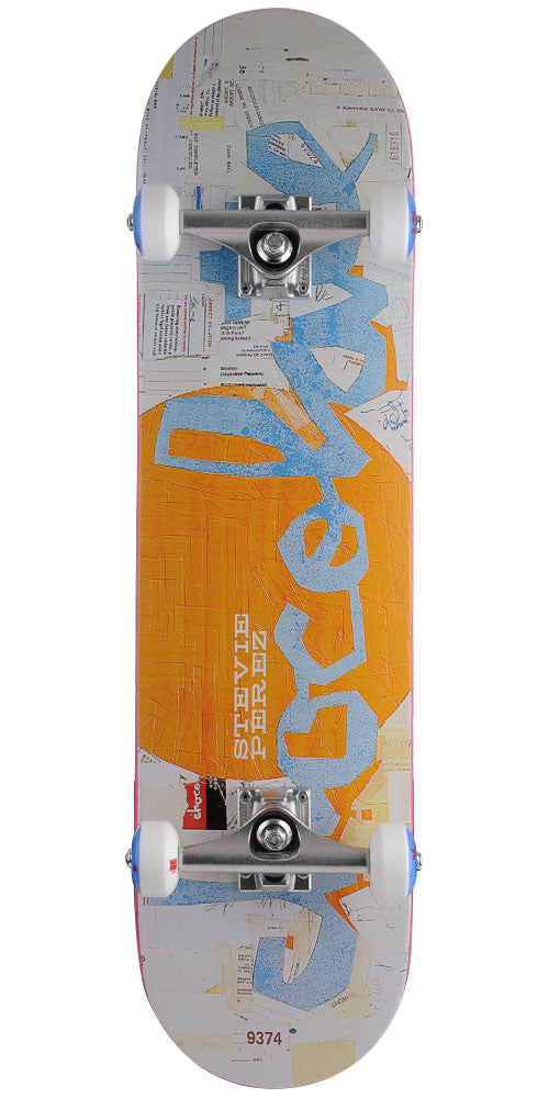 Chocolate Perez Art Dump Chunk Complete Skateboard - White - 8.0in x 31.75in