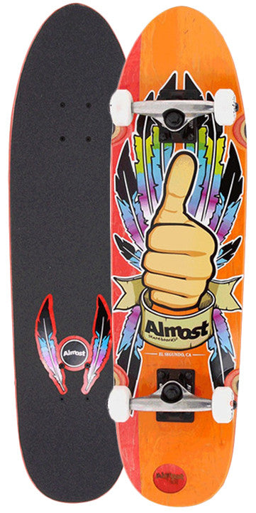 Almost Thumbs Up Cruiser Complete Skateboard - 31 - Red/Orange