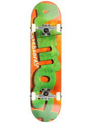 Almost Actual Logo Complete Skateboard - 8 - Orange/Green