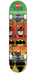 Almost Daewon Batman Fade Complete Skateboard - Rasta - 7.75in
