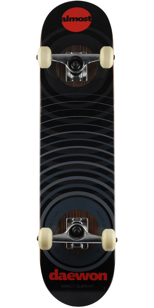 ffadaa9f3c Almost Daewon Impact Support Complete Skateboard - Black - 7.5in x 31.125in