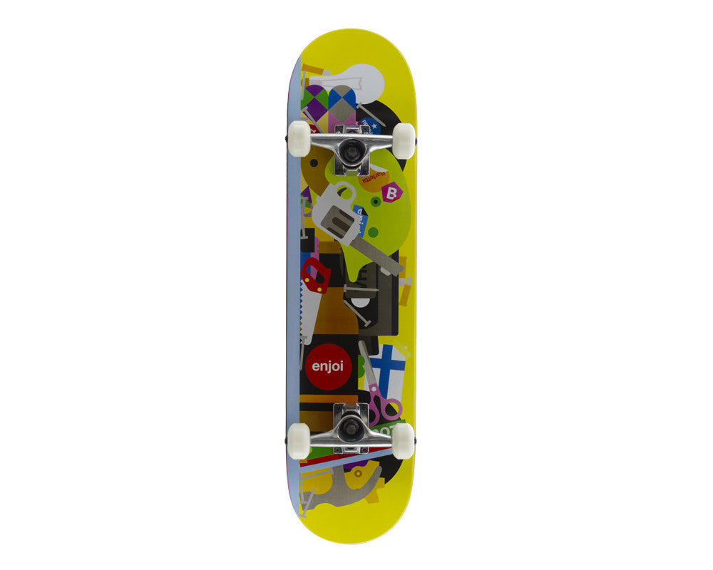 Enjoi Bless This Mess R7 Louie Barletta Complete Skateboard - 7.75 - Yellow
