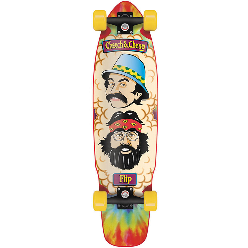 Flip Cheech and Chong Shred Sled Cruzer Complete Skateboard - 36.0in x 9.3in - TieDye