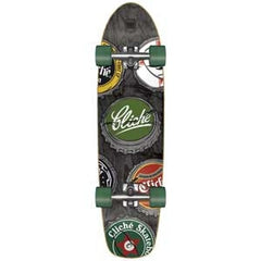 Cliche Beer Cruiser Complete Skateboard - 8 x 30.5 - Black/Green