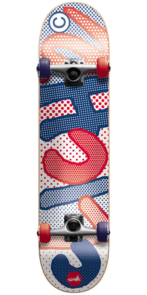 Cliche Dots Complete Skateboard - 7.75in - Red/Blue