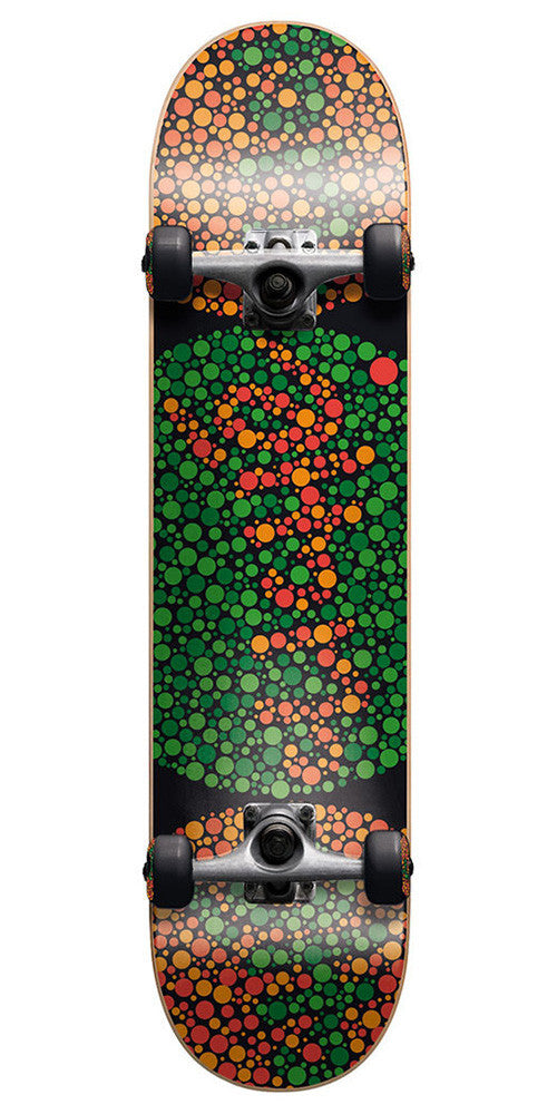 Cliche Colorblind Complete Skateboard - 7.7 - Green/Red