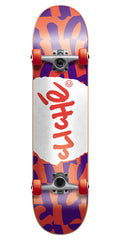 Cliche Tear It Up Complete Skateboard - 7.75 - Red/Purple