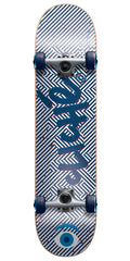 Cliche Optic Complete Skateboard - Blue/White - 7.6