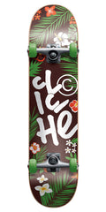 Cliche Hanalei Complete Skateboard - Green/Brown - 7.75