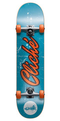 Cliche Old Logo Complete Skateboard - Blue/Orange - 7.7