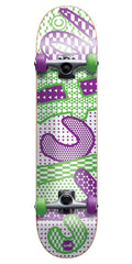 Cliche Trippy Complete Skateboard - Green/Purple - 7.75