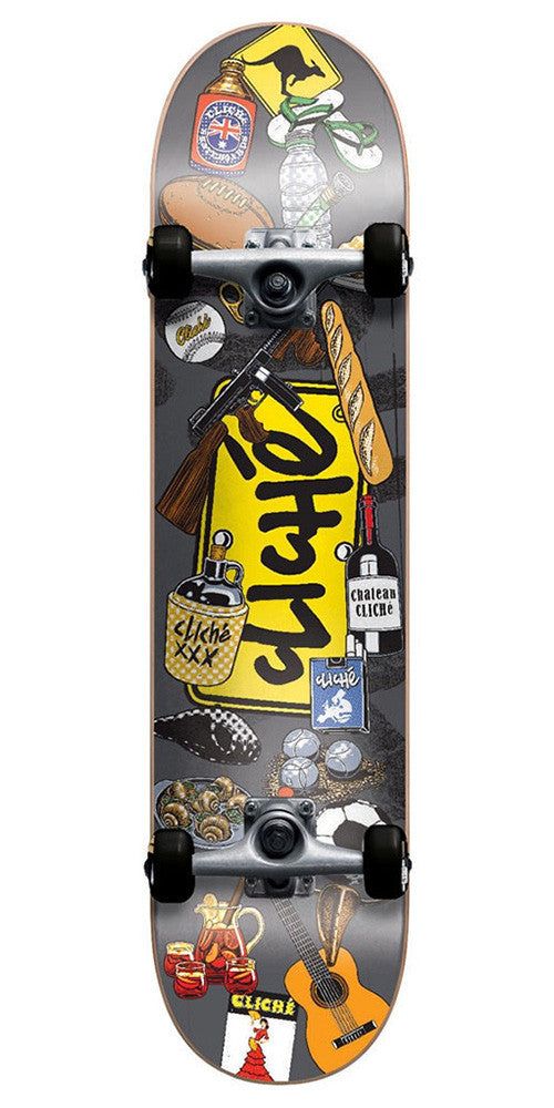 Cliche Icons Complete Skateboard - Multi - 7.75in