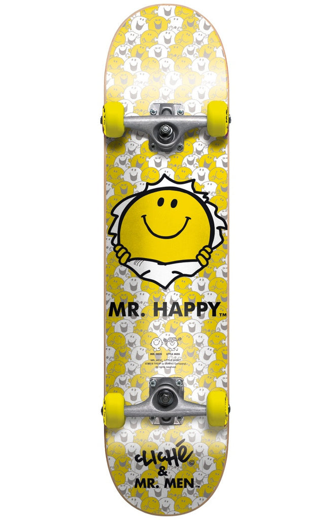 Cliche Mr. Happy Youth Complete Skateboard - Yellow - 7.0in
