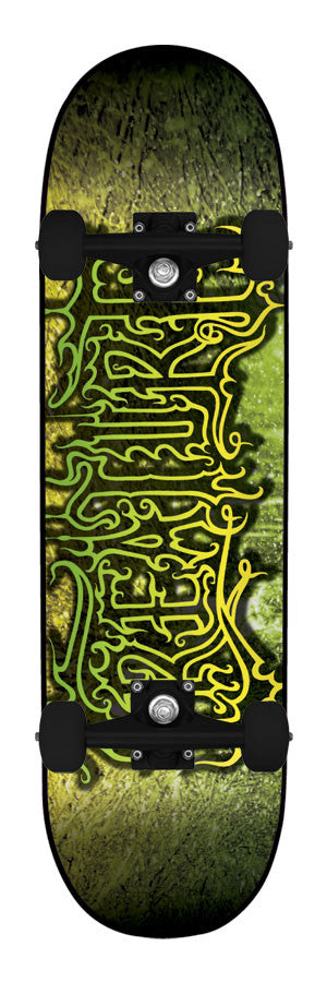 Creature Frozen Beasts Powerply Large Complete Skateboard - 8.26 x 31.7 - Black/Green/Yellow