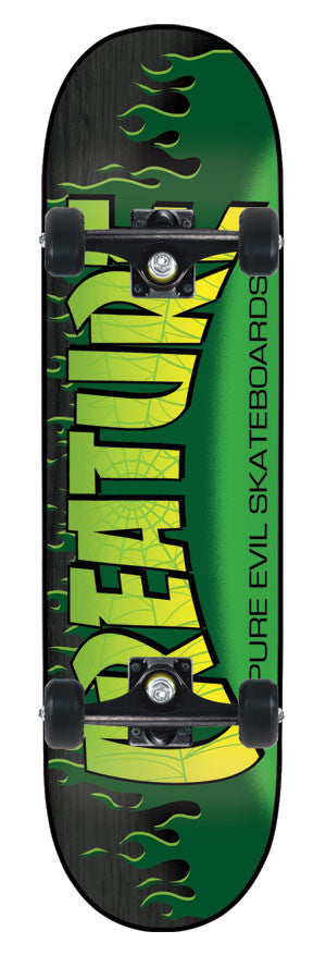 Creature The Bible Small Complete Skateboard - 8 x 31.6 - Green/Black
